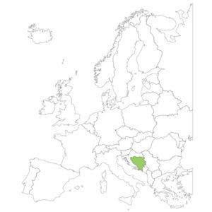 ボスニア・ヘルツェゴビナの場所