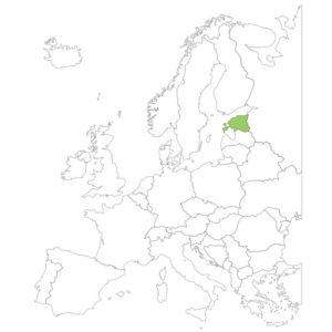 エストニアの場所