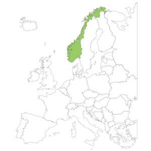 ノルウェーの場所