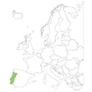 ポルトガルの場所
