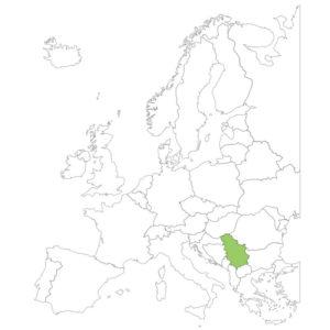 セルビアの場所