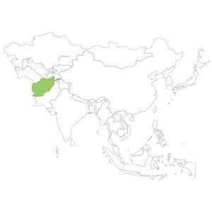 アフガニスタンの場所