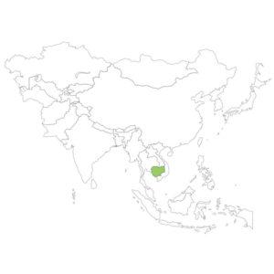 カンボジアの場所