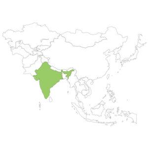 インドの場所