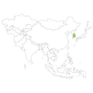 韓国の場所