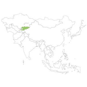 キルギスの場所