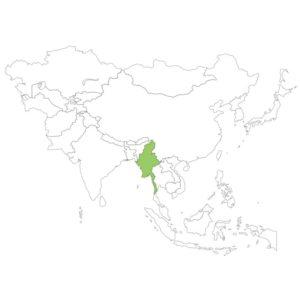 ミャンマーの場所