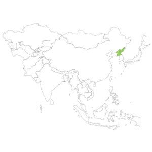 北朝鮮の場所