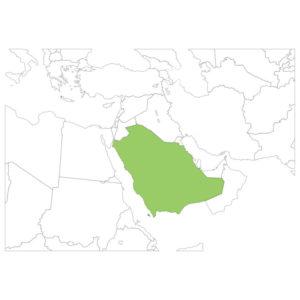 サウジアラビアの場所