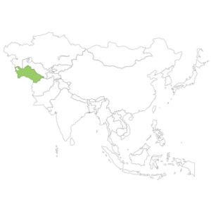 トルクメニスタンの場所