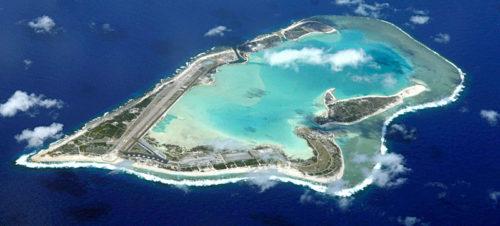 ウェーク島の航空写真