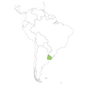 ウルグアイの場所