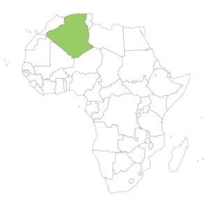 アルジェリアの場所