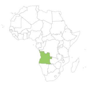 アンゴラの場所