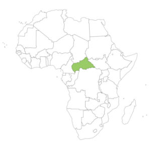 中央アフリカの場所