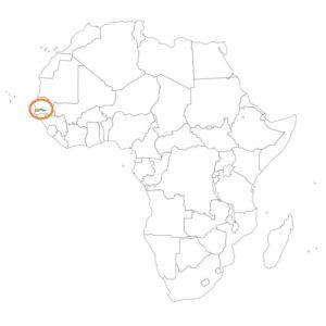 ガンビアの場所