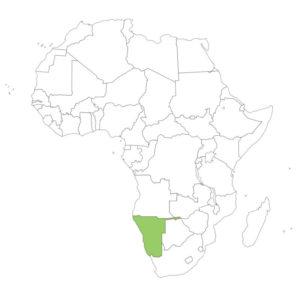 ナミビアの場所