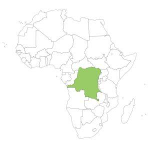コンゴ民主共和国の場所