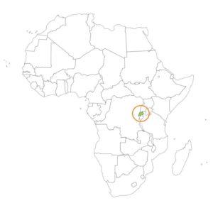 ルワンダの場所