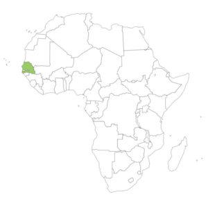 セネガルの場所