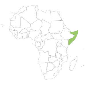 ソマリアの場所