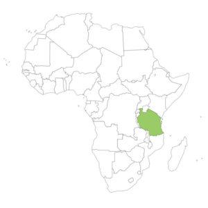タンザニアの場所