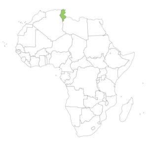 チュニジアの場所