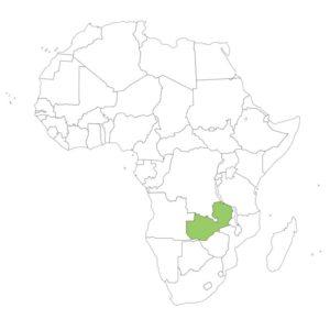 ザンビアの場所