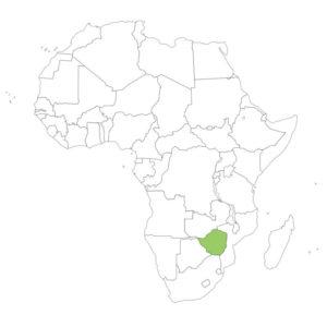 ジンバブエの場所